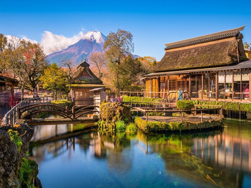 Kết quả hình ảnh cho Làng văn hóa Oshino Hakkai